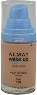 Almay Wake-Up Liquid Makeup, Beige-050, 1.0 Fluid Ounce (2 Pack)