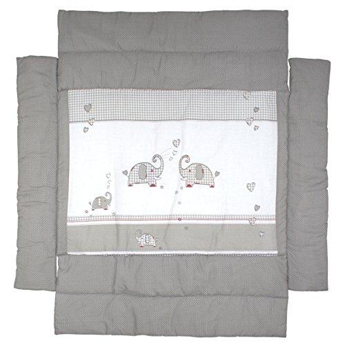 Universal Laufgittereinlage Jumbotwins waschbar Seitenpolsterung • Baby Laufgitter Laufstall Einlage Nestchen Polster