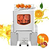 Frifer Commercial Orange Juicer,Heavy Duty Automatic Citrus Juice Machine fast Residue Juice Separation,Professional 304 Stainless Steel Panel Electric Orange Juice Squeezer Easy to Clean,110V