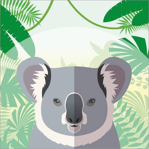 Posterlounge Acrylglasbild 20 x 20 cm: Lebensraum des Koalas von Kidz Collection/Editors Choice - Wandbild, Acryl Glasbild, Druck auf Acryl Glas Bild