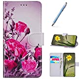 URFEDA Cover Compatibile con Huawei P20 Pro Custodia Pelle Cover Retro Flip Case Colorato ...