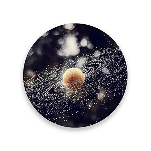 LUPINZ Tennisball Spray Drops Galaxy Untersetzer für Getränke, perfekte Untersetzer passt auf jede Größe von Trinkgläsern, verhindert Schmutz und Kratzer, Holz, 1, 4 pieces set
