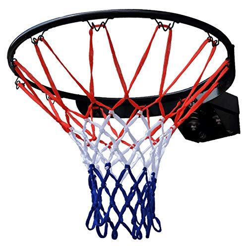 WYHM Durable Anillo de Arco de Baloncesto Negro con Baloncesto Neto Rim Tamaño Profesional de 18'Montado en la Pared de la Red de 45 cm para el Exterior Interior Completo Accesorios