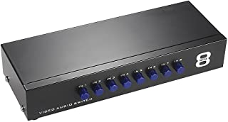 MT-VIKI 8 Ports 8-in 1-Out AV RCA Splitter Selector Switch Adapter MT-831AV