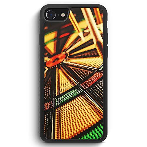 Darts - Silikon Hülle für iPhone 7 - Motiv Design Sport - Cover Handyhülle Schutzhülle Case Schale