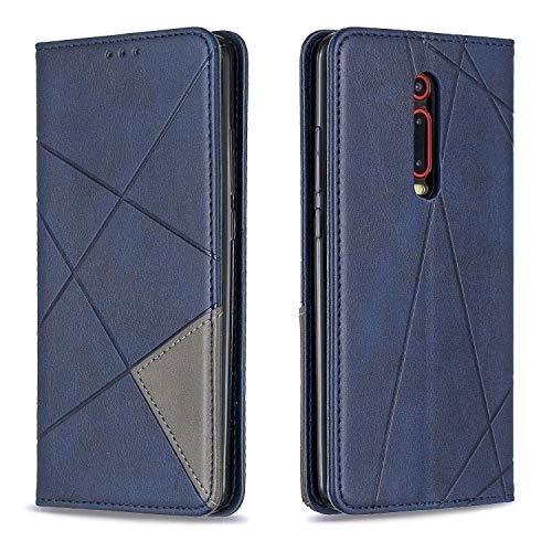 Hülle für Xiaomi Mi 9T/Redmi K20 Hülle Handyhülle [Standfunktion] [Kartenfach] Schutzhülle lederhülle klapphülle für Xiaomi Mi9T Pro - DEBF090821 Blau