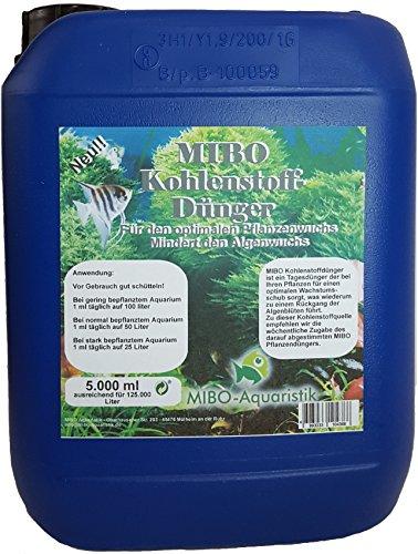 MIBO Kohlenstoffdünger 5000 ml Kanister ausreichend für 125.000 L Wasser! Jetzt NEU! Pflanzendünger Aquarium