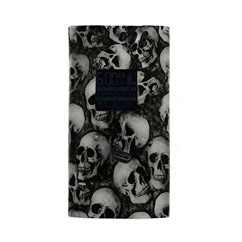 Matte Silicone Case For Smok Alien 220W/Black Skull Skeleton/Protective Gel Cover Sleeve Wrap Shield