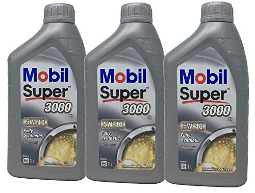 Aceite Lubricante Motor - Mobil Super 3000 X1 5W-40, Pack 3 litros