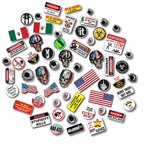 71 Pack of Mexican American Edition Crude Humor Hilarious Hard Hat Prank Decal Joke Sticker Funny Laugh Construction LOL