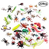 Insekt Spielzeug,27 Stück Plastic Insects Bugs Figuren, Simulierte Insekt aus Premium,Tierwelt...