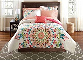 Mainstay Medallion Bed in a Bag Bedding (Twin)