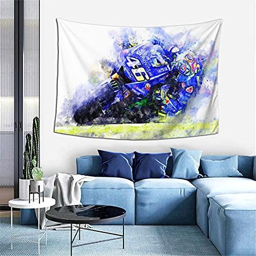 Valentino Rossi - Tapiz de pared con diseño original para dormitorio, sala de estar, dormitorio