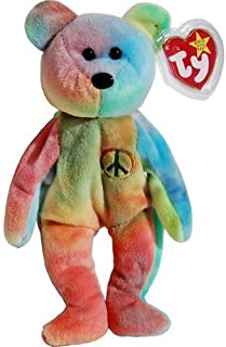Peace the Neon Ty-Dyed Teddy Bear - MWMT Ty Beanie Babies [Holiday Gifts]