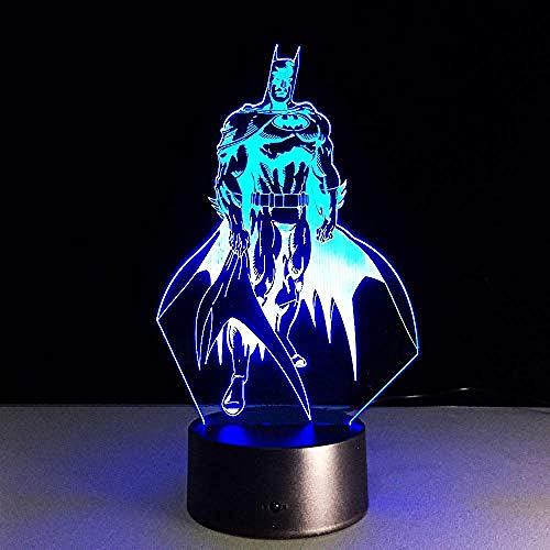 3D ilusión lámpara de escritorio LED Luz nocturna Luz de ilusión 3D Decoración Del Hogar Regalo De Cumpleaños Para Niños Habitación De Niños Con interfaz USB, cambio de color colorido