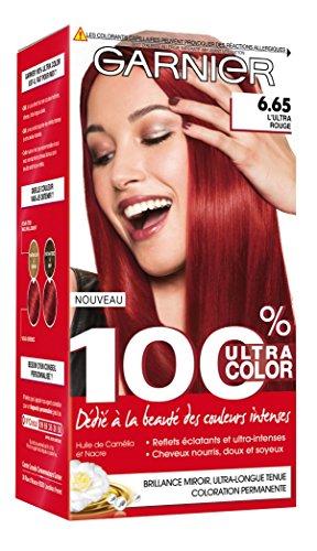 Garnier 100% Ultracolor Coloration N°665 Ultra Rouge - Lot de 2