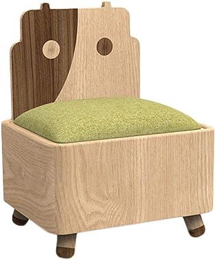 ZYN Storage Ottoman Children's Sofa Reversible Small Table Cute Princess Stool Storage Storage Stool Backrest Chair (Colo