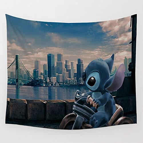 Wandbehang mit Lilo & Stitch Cycling to See the Scenery Fleecedecke, 228 x 178 cm