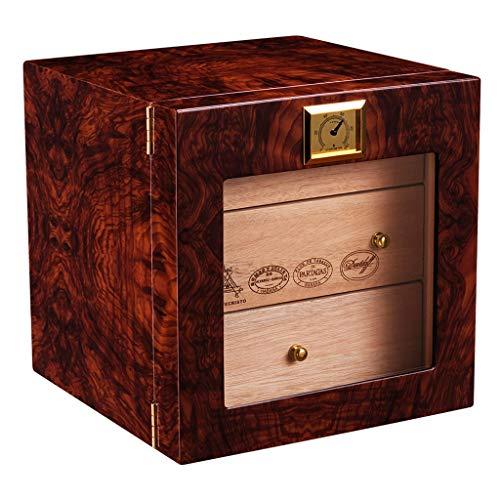 Zigarrenschachtel - Zigarrenschachtel Zigarrenschachtel Humidor natürlicher ausgereifter Zedernholz Klavierlack Zigarrenschrank Feuchtigkeitsspendende Box Hohe Qualität (Farbe : Red)