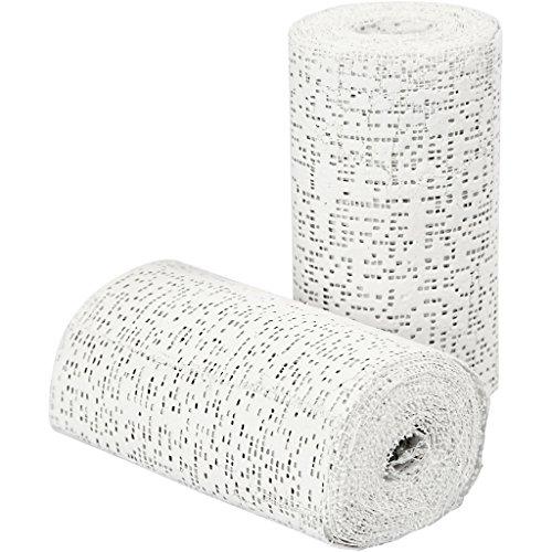 Lot de 2 rouleaux de bandage de plâtre Longueur 2,7 m Largeur 10 cm