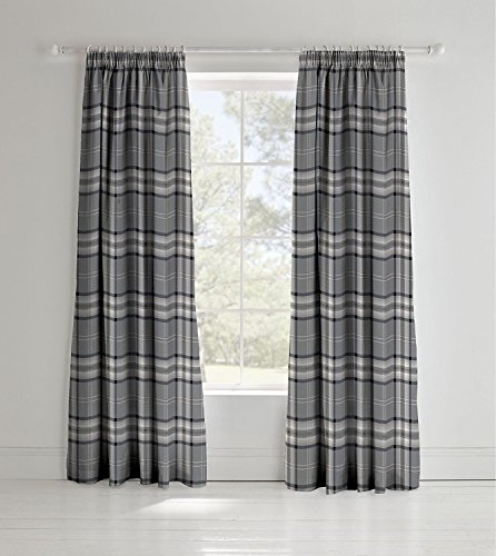 Catherine Lansfield Kelso Rideaux-Gris Anthracite