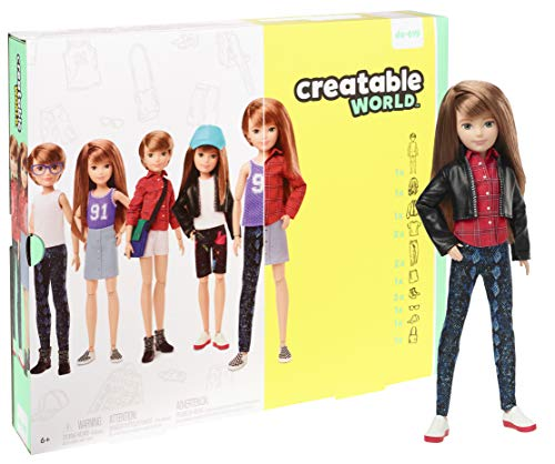 Creatable World Deluxe Character Kit Customizable Doll, Copper Straight Hair