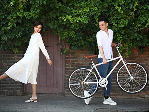 "Bicicleta de estilo holandés, bicicleta urbana de carretera de 26 ""Bicicleta de 7 velocidades de época Bicicletas clásicas Ciclo retro Ocio Carretera de campo Bicicletas de confort y crucero,Blanco"