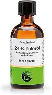 Sanct Bernhard 24-Kräuteröl, 100% reines ätherisches Öl, Inhalt 100 ml