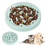 Zaloife Alimentadores Lentos, Lenta Comedero, Comedero Perros Pequeños Antivoracidad, Comedero Gato Interactivo, Tazon Comedero para Mascotas (Verde)