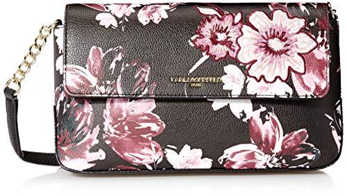 Karl Lagerfeld Paris Damen Flap Iris Hermine Crossbody-Tasche mit Klappverschluss und Print, Fall Floral, Einheitsgröße