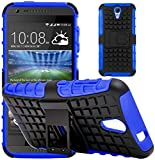 G-Shield Hülle für HTC Desire 620/620g Stoßfest Schutzhülle mit Ständer - Blau