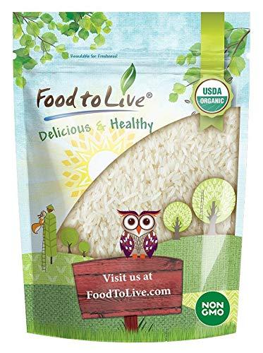 Organic Jasmine Rice, 1 Pound - Raw White Rice, Whole Grain, Non-GMO, Kosher, Bulk