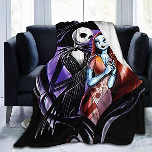 Nightmare Before Christmas Ultra Soft Throw Blanket Flannel Fleece All Season Light Weight Living Room/Bedroom Warm Blanket,Black,50'' x40