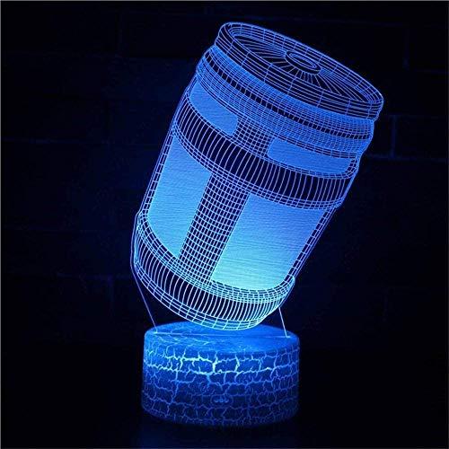 XZHYMJ 3D Illusion Light Gun-Serie - 7 Farben zum Ändern der Farbe, um das Nachtlicht für das Schlafzimmergeschenk für Kinder zu berühren