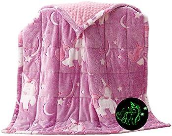 Bood Glow Unicorn Weighted Blanket