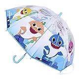CERDÁ LIFE'S LITTLE MOMENTS- Paraguas Transparente de Baby Shark -Licencia Oficial Nickelodeon, Color (2400000556)