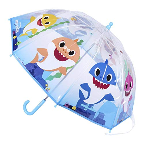 CERDÁ LIFE'S LITTLE MOMENTS- Paraguas Transparente de Baby Shark -Licencia Oficial Nickelodeon, Dibujos Animados, Color, único (143035)