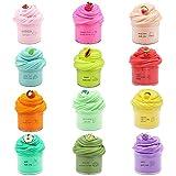 SWZY Butter Slime Kit,Slime Fluffy,con Limo de sandía de Color Rosa, Limo de Hojas,...