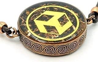 ZZYBIA Reiki Antahkarana Orgone Pendant EMF protection with Obsidian