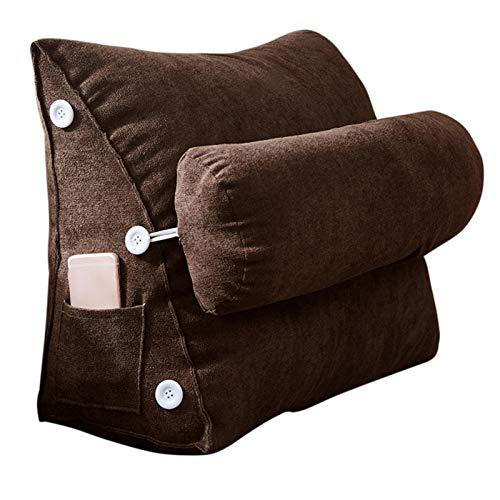 Qians Almohada de cojín de cuña Almohada de Lectura sentada Almohada Ajustable para reflujo ácido para acostarse en la Cama Leer Almohada y Almohada de Cama Great