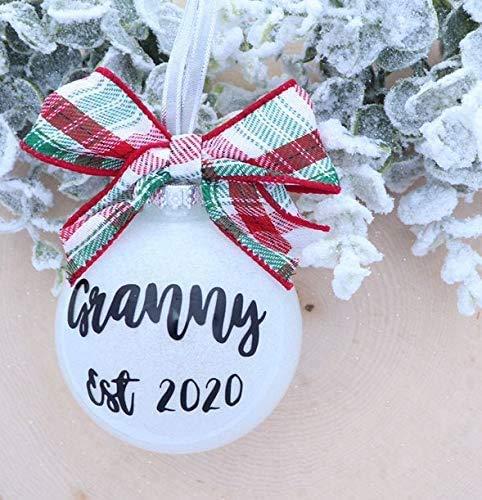 None-brands Anuncio de embarazo ornamento de anuncio de bebé anuncio de Navidad embarazo anuncio de Navidad adorno colgante adorno de árbol decoración abuelos embarazo revelar