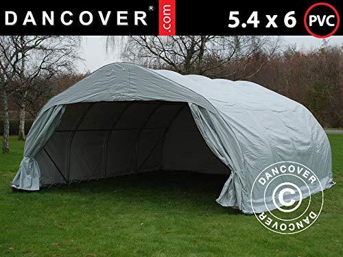 Dancover Doppel Zeltgarage Garagenzelt 5,4x6x2,9m PVC, Grau