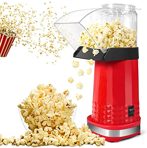BIIBeSeamu Popcorn Maker, Home Electric Air Popcorn Maker Machine with ETL Certified, BPA Free, No Oil, DIY Flavors,98% Poping Rate,Popcorn Popper for Home Movie/Party