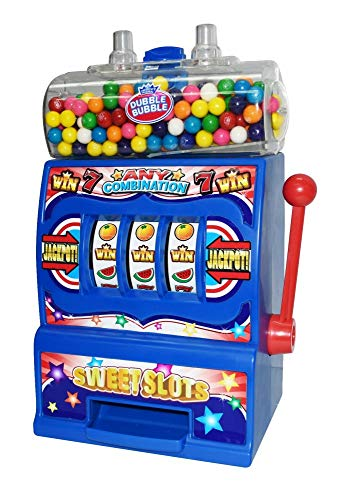 Jumbo Gumball Slot Machine Bank | Pull the Lever to Win Tasty Gumballs as Prizes