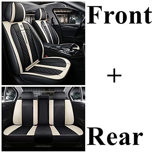Coprisedili per Auto Set Completo Universale per Toyota Land Cruiser Reiz Voltz Suzuki Swift Jimny Vitara Swift Grand Vitara Fiat 500 Punto 500l 500x, Nero Beige Standard