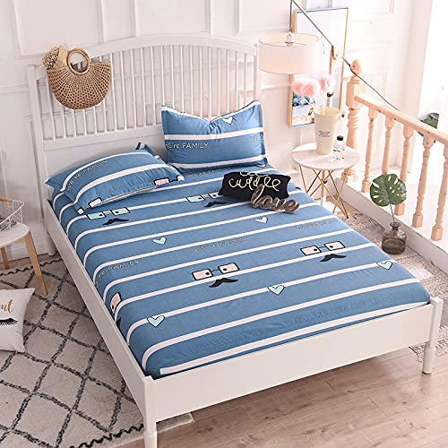 YDyun Matratzen-Bett-Schoner mit Spannumrandung | Auch für Boxspring-Betten & Wasser-Betten geeigne Einteilige Tagesdecke aus Baumwolle rutschfest & staubdicht