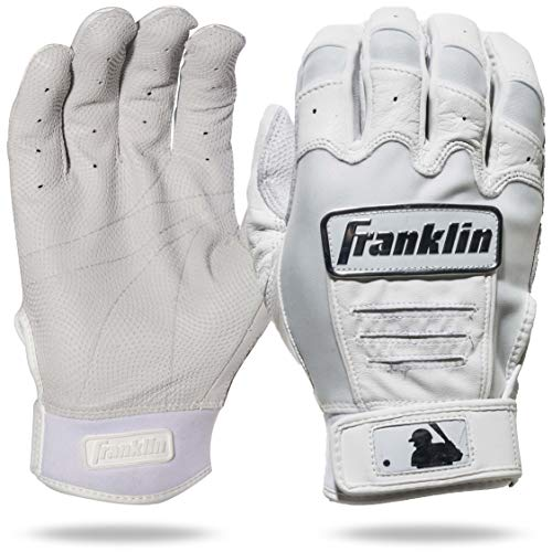 Franklin Sports CFX Pro Full Color Chrome Series Batting Gloves CFX Pro Full Color Chrome Batting Gloves, White, Adult Large