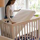 Lullaby Earth Breeze Breathable Mini Crib Mattress - Chemical Free, Dual Firmness Natural Mattress with Removable Washable Protector, 38' x 24'