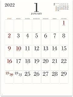 新日本カレンダー 2022年 カレンダー 壁掛け シンプル フェイス NK194 46/4切(53.5×38cm)