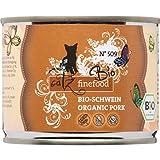 catz finefood Bio Katzenfutter Schwein - N° 509 - Nassfutter für Katzen - 6 x 200 g - Ohne Getreide & zugesetzten Zucker (1,2 kg)